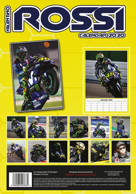 Valentino Rossi Kalendar 2020