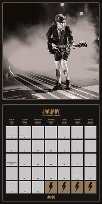 AC/DC Kalendarz 2019