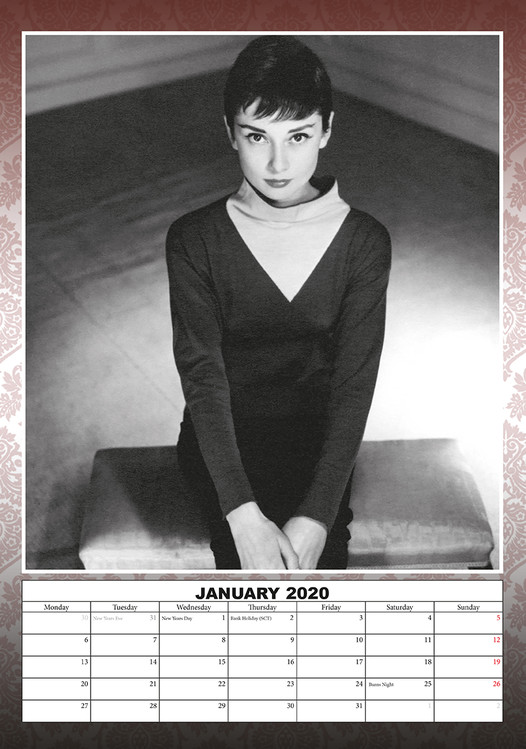 Audrey Hepburn Kalendarz 2020