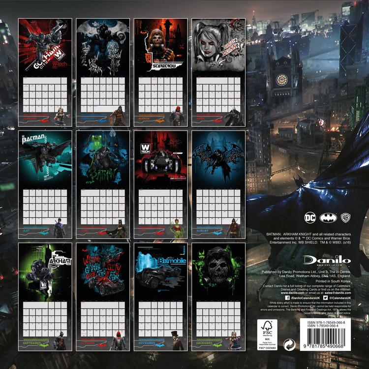 Batman: Arkham knight Kalendarz 2018