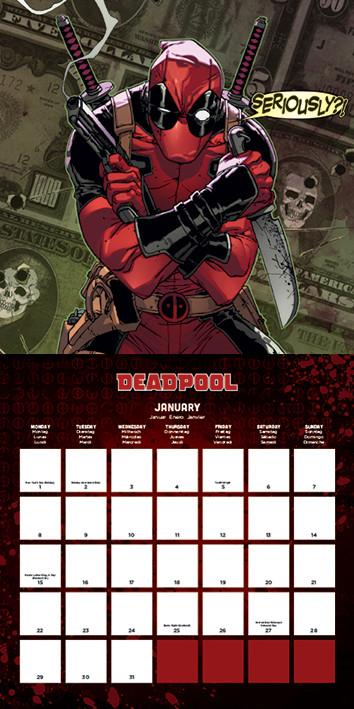 Deadpool Kalendarz 2018