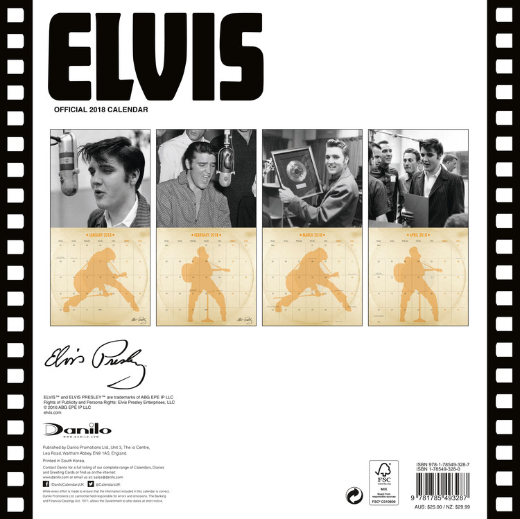 Elvis - Collectors Edition Kalendarz 2018