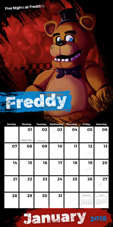 Five Nights At Freddys Kalendarz 2019