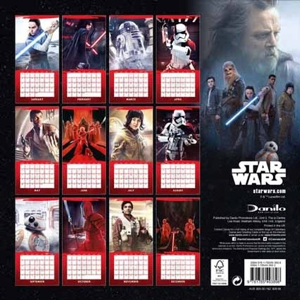Gwiezdne wojny: Ostatni Jedi Kalendarz 2018