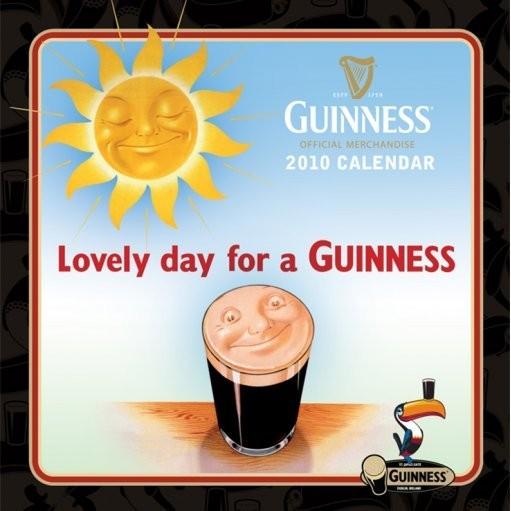 Kalendář 2010 Guinness Kalendarz 2017