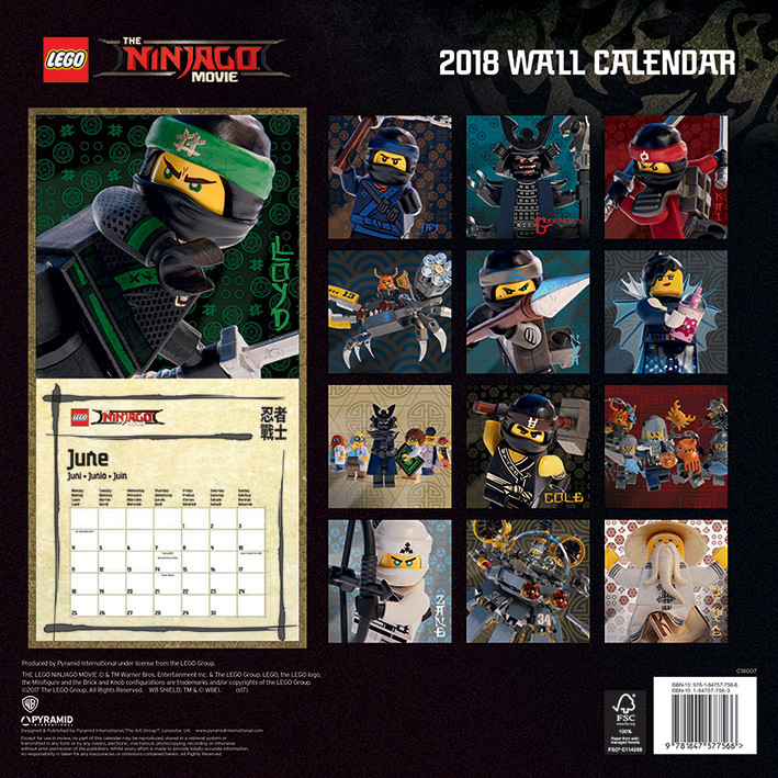 Lego Ninjago Movie Kalendarz 2019
