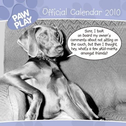 Official Calendar 2010 Paw Play Kalendarz 2017
