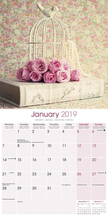 Shabby Chic Kalendarz 2020