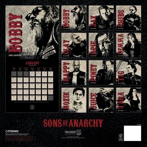 Sons of Anarchy Kalendarz 2019