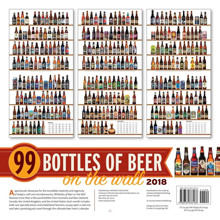 Kalender 2019  99 Bottles of Beer on the Wall