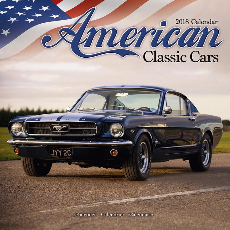 american classic cars kalender 2019 kj p hos europosters. Black Bedroom Furniture Sets. Home Design Ideas
