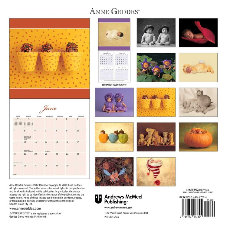 Anne Geddes - Timeless Kalender 2018