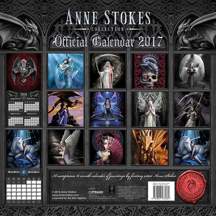 Kalender 2018 Anne Stokes