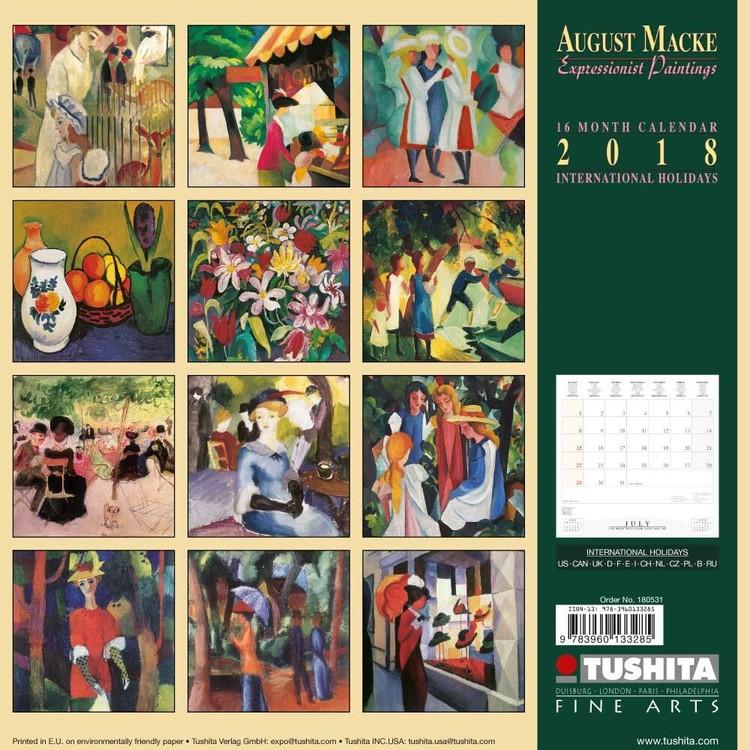 Calendrier Avent Kinder 2020.Kalender 2020 August Macke