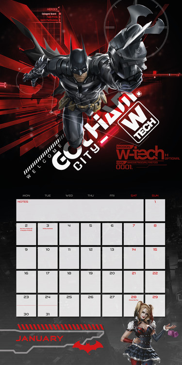 Kalender 2018 Batman: Arkham knight