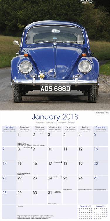 kalender 2019 beetle vw bei europosters. Black Bedroom Furniture Sets. Home Design Ideas