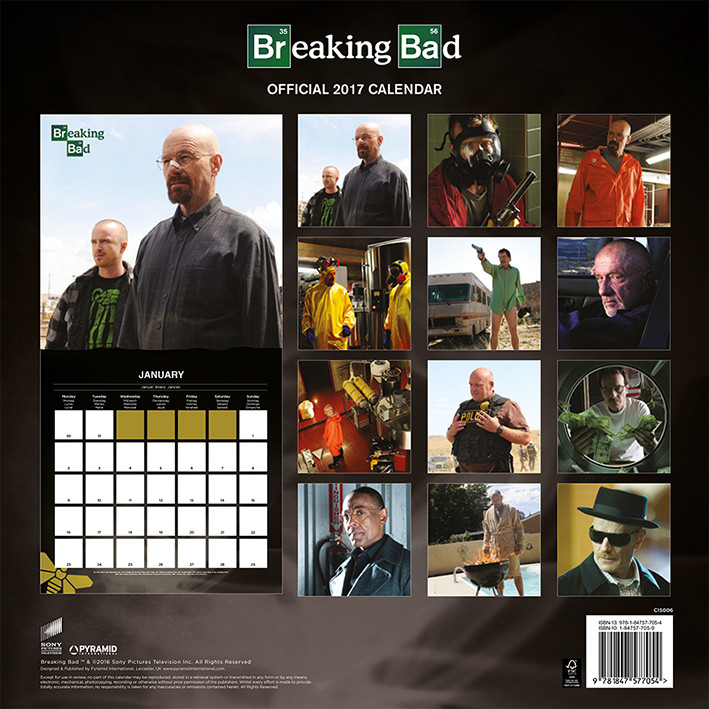 Kalender 2018 Breaking Bad
