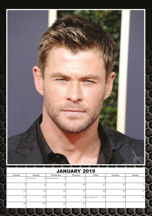 Kalender 2019  Chris Hemsworth