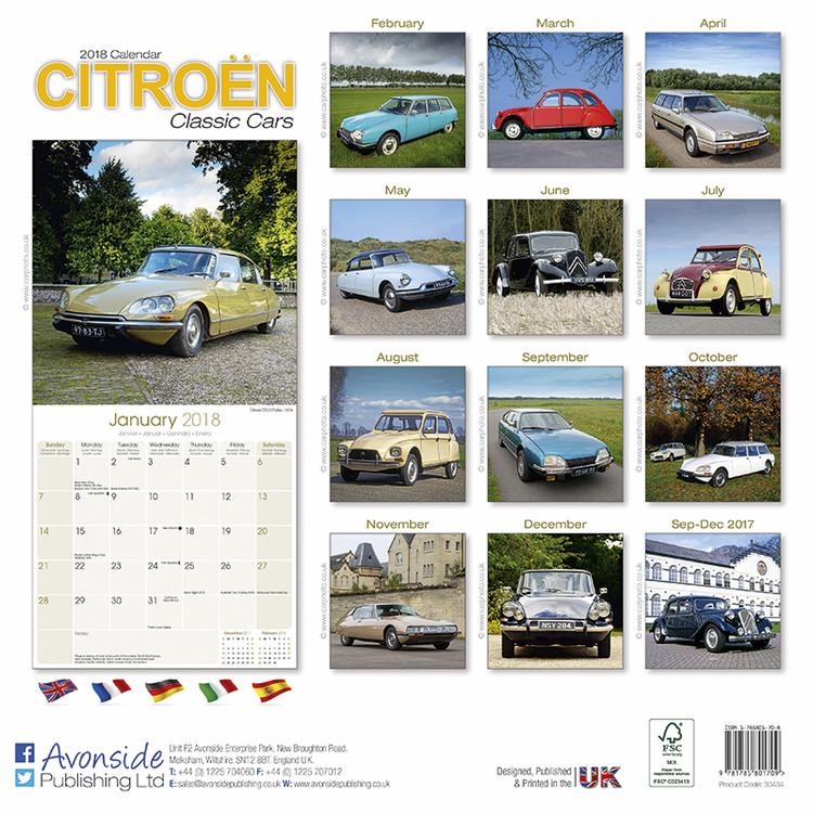 kalender 2019 citroen classic cars bei europosters. Black Bedroom Furniture Sets. Home Design Ideas