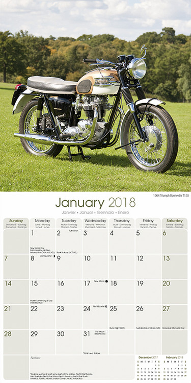 kalender 2019 classic british bikes. Black Bedroom Furniture Sets. Home Design Ideas