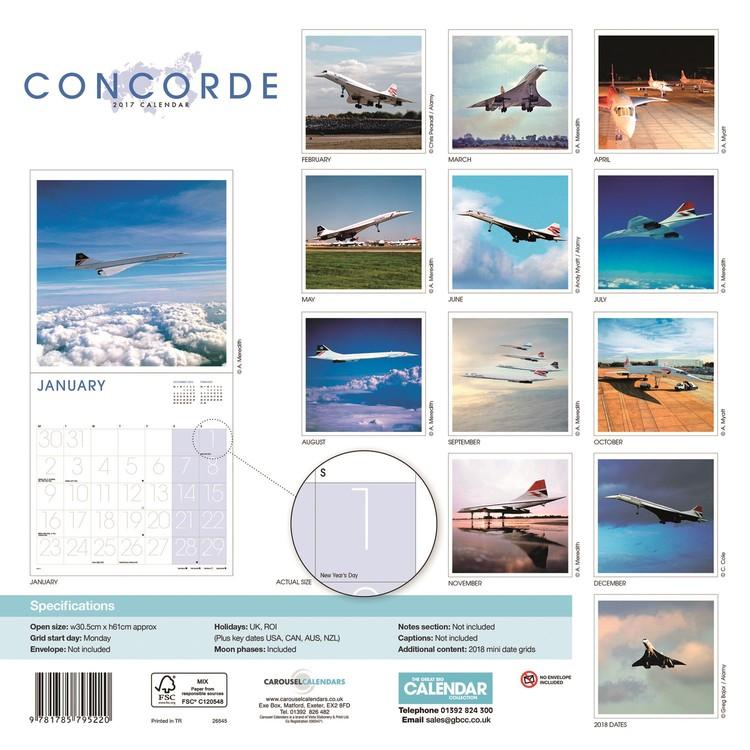 Concorde Kalender 2018