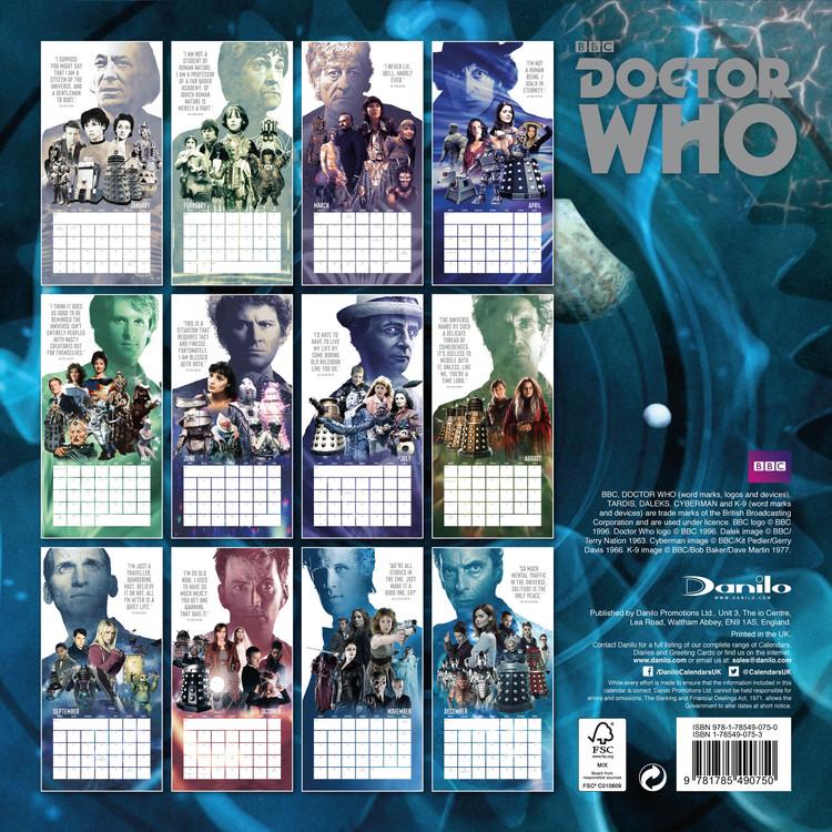 Kalender 2018 Doctor Who
