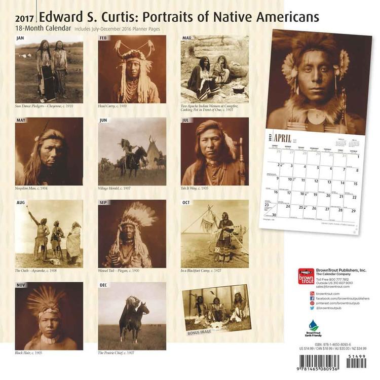 Kalender 2018 Edward S. Curtis: Portraits of Native Americans