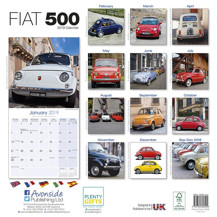 Kalender 2020 Fiat 500