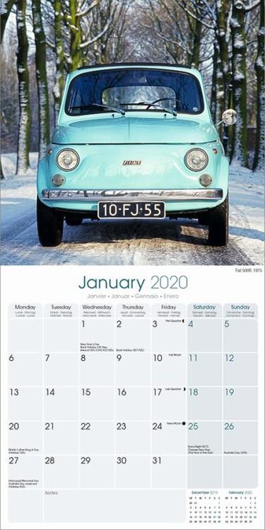 Kalender 2020-  Fiat 500