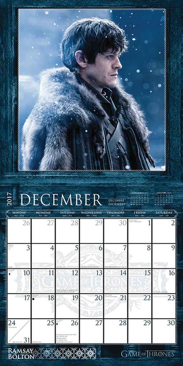 Game of Thrones Kalender 2018