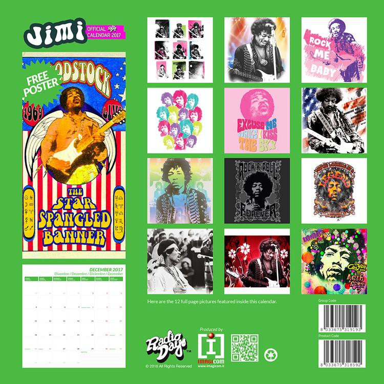 Kalender 2018 Jimi Hendrix
