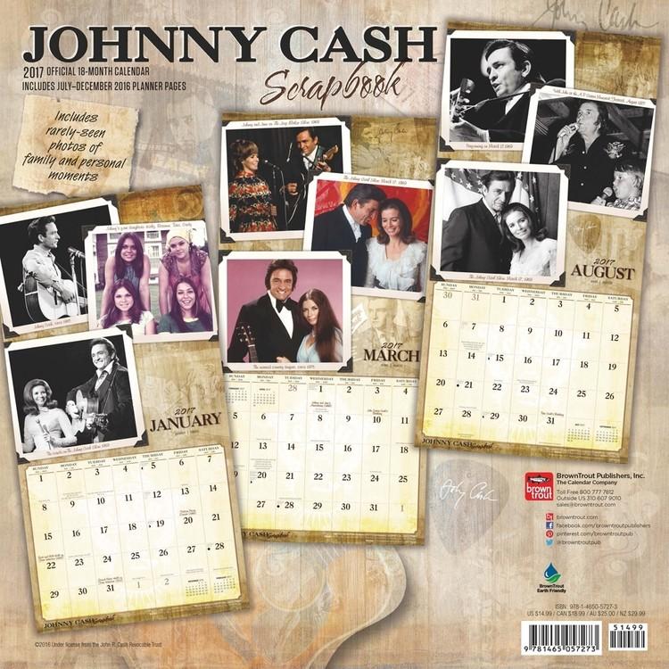 Kalender 2018  Johnny Cash