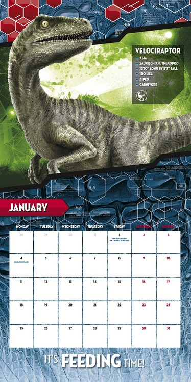 Kalender Jurassic Park IV: Jurassic World bei EuroPosters