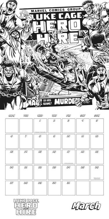 Marvel comics Kalender 2018