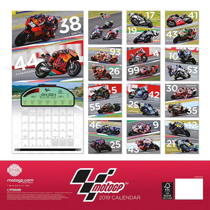 kalender 2019 moto gp bei europosters. Black Bedroom Furniture Sets. Home Design Ideas