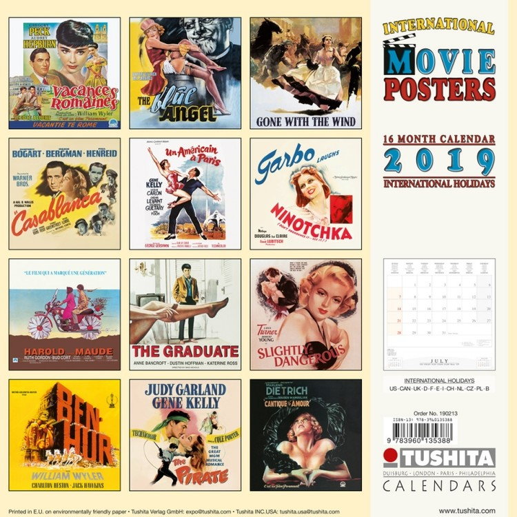 kalender 2019 movie posters. Black Bedroom Furniture Sets. Home Design Ideas