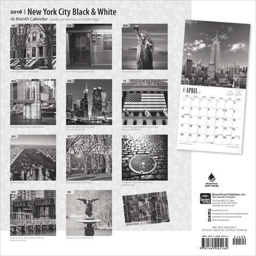 kalender 2019 new york black white. Black Bedroom Furniture Sets. Home Design Ideas