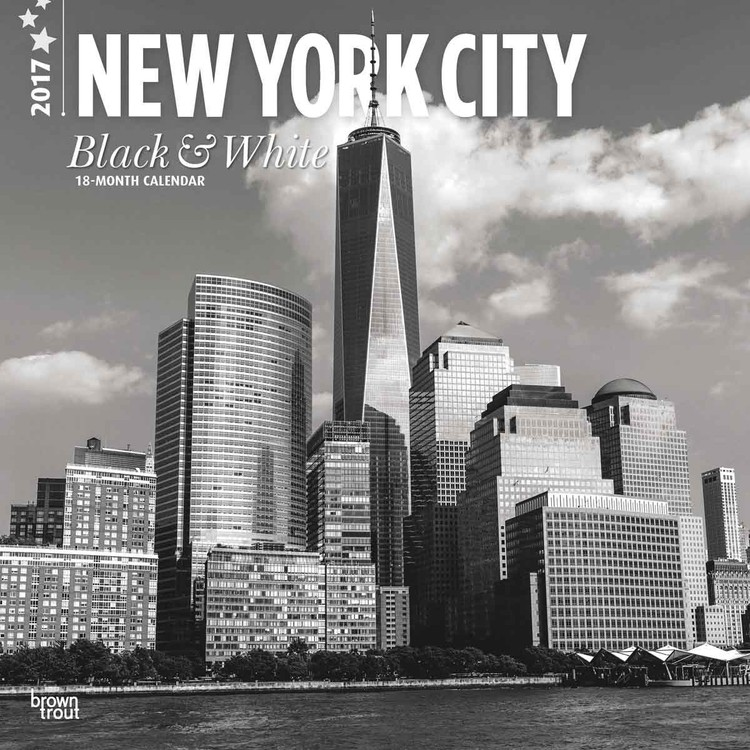 kalender 2019 new york black white bei europosters. Black Bedroom Furniture Sets. Home Design Ideas