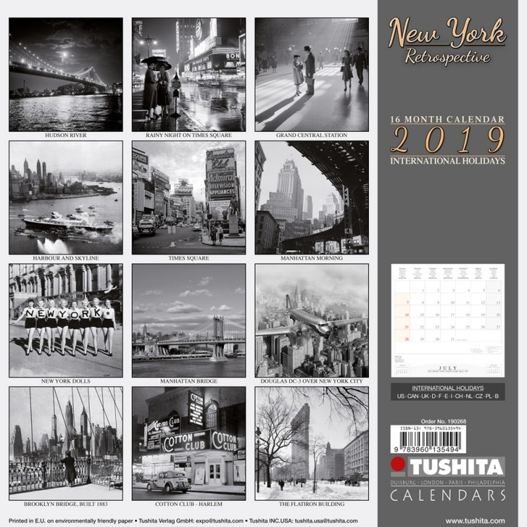 bestel een new york retrospective kalender 2019 op. Black Bedroom Furniture Sets. Home Design Ideas