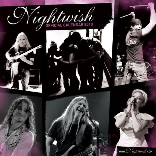 Kalender 2017 Official Calendar 2010 Nightwish