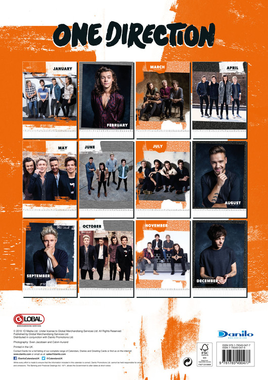 Kalender 2018 One Direction