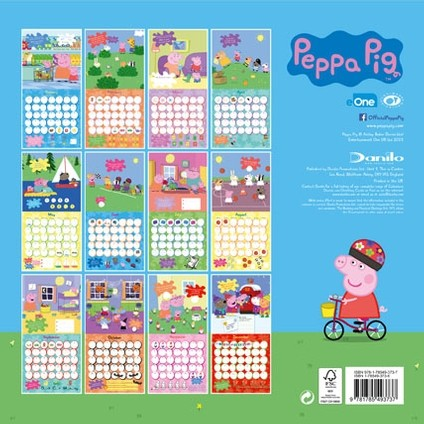 kalender 2020 peppa pig bei europosters. Black Bedroom Furniture Sets. Home Design Ideas