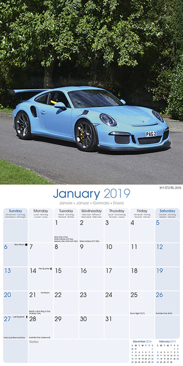 kalender 2019 porsche bei europosters. Black Bedroom Furniture Sets. Home Design Ideas