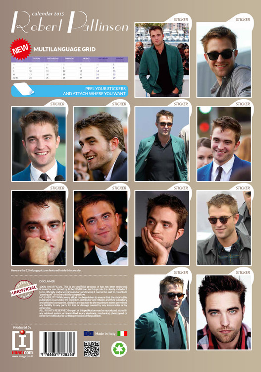Robert Pattinson Kalender 2019