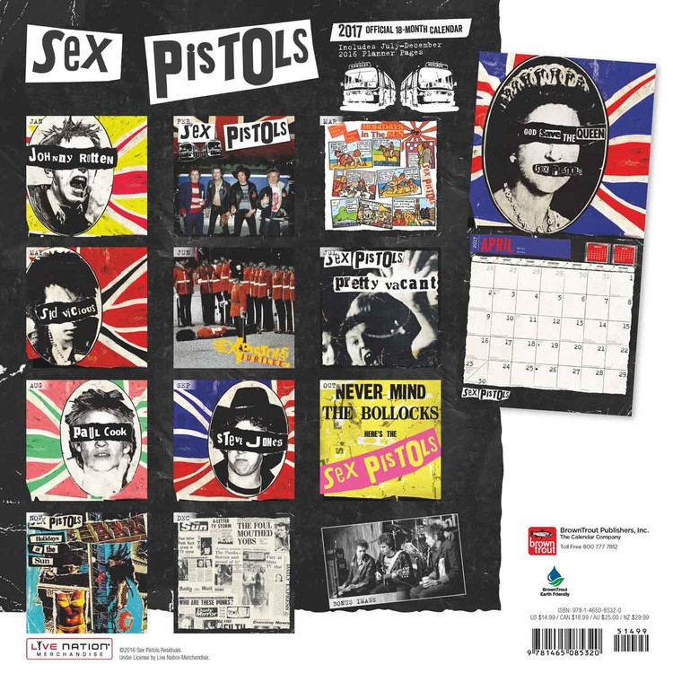 Sex Pistols Kalender 2018