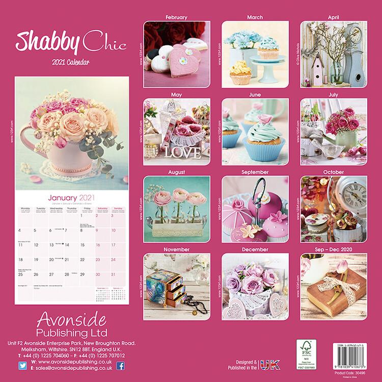 Kalender 2021 Shabby Chic