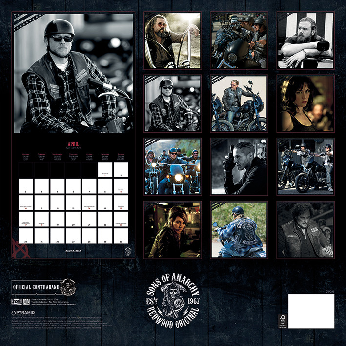 Sons of Anarchy Kalender 2018