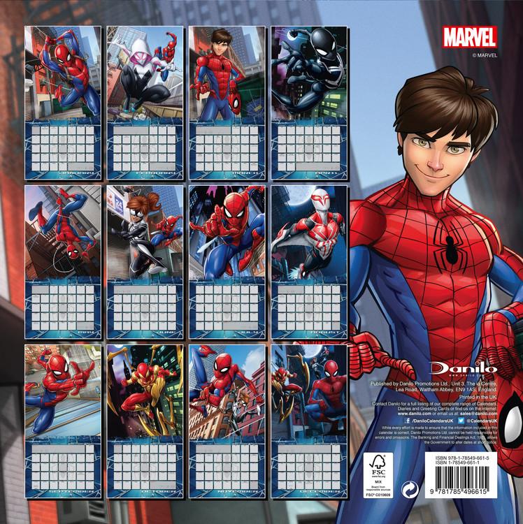 kalender 2019 spiderman. Black Bedroom Furniture Sets. Home Design Ideas