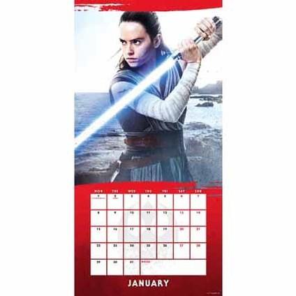 Kalender 2019  Star Wars: The Last Jedi