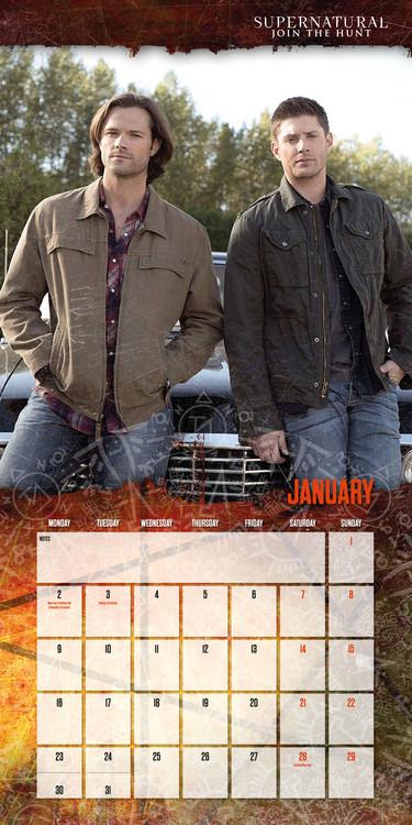 Kalender 2018 Supernatural